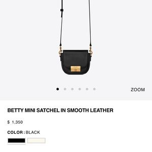 YSL Saint Laurent Betty Mini Satchel NWT